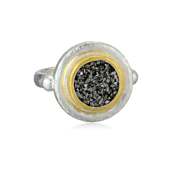 Gurhan 24K Gold Sterling Silver and Black Diamond