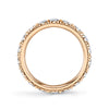 Harry Kotlar Diamond and 18K Rose Gold Eternity Band