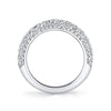 Harry Kotlar Diamond and 18K White Gold Eternity Band