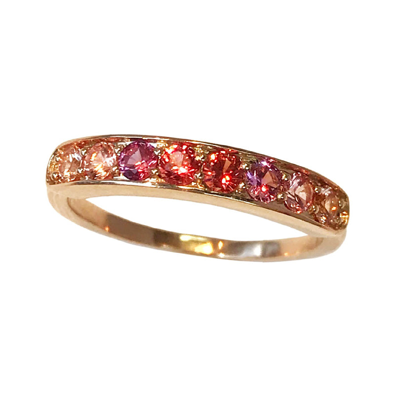 Jane Taylor Jewelry Multi-Color Sapphire Half Eternity Band