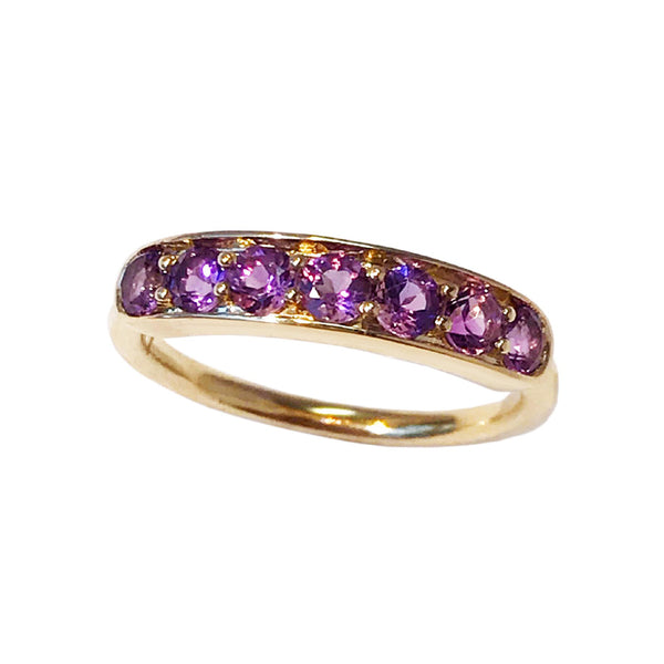 Jane Taylor Jewelry Amethyst Half Eternity Band