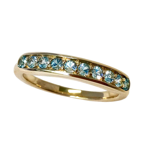 Jane Taylor Jewelry Blue Topaz Half Eternity Band