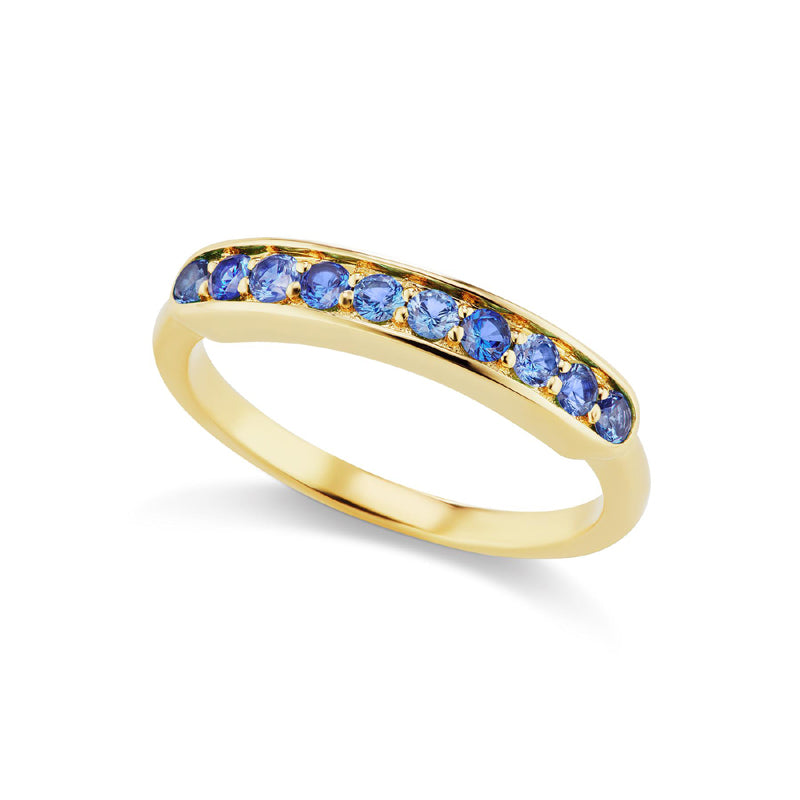 Jane Taylor Jewelry Sapphire Half Eternity Band