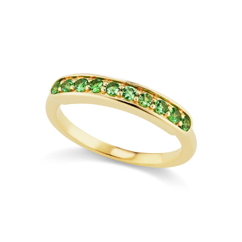 Jane Taylor Jewelry Tsavorite Garnet Half Eternity Band