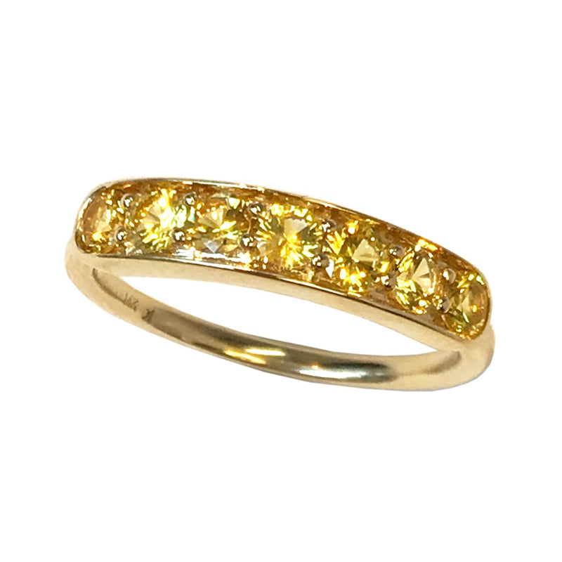 Jane Taylor Jewelry Yellow Sapphire Half Eternity Band
