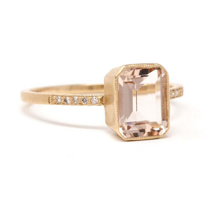 Jennifer Dawes Design Blockette Small Morganite Cocktail Ring