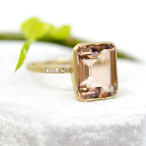 Jennifer Dawes Design Blockette Morganite Cocktail Ring