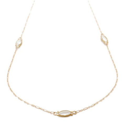 Jennifer Dawes Design Quartz Station Necklace