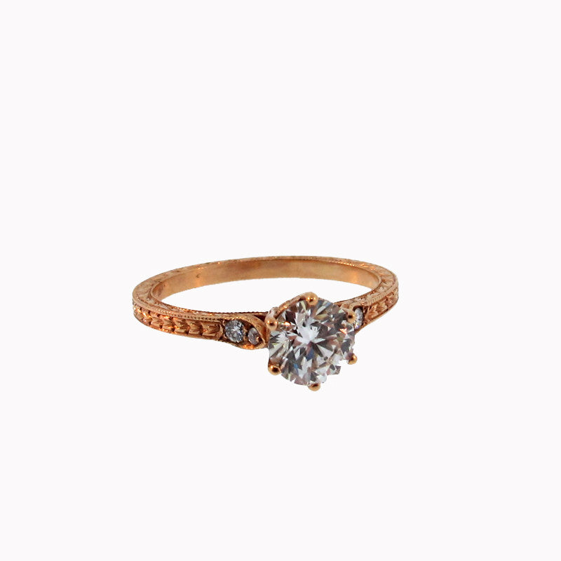 John Apel Diamond and 18K Rose Gold Priscilla Ring