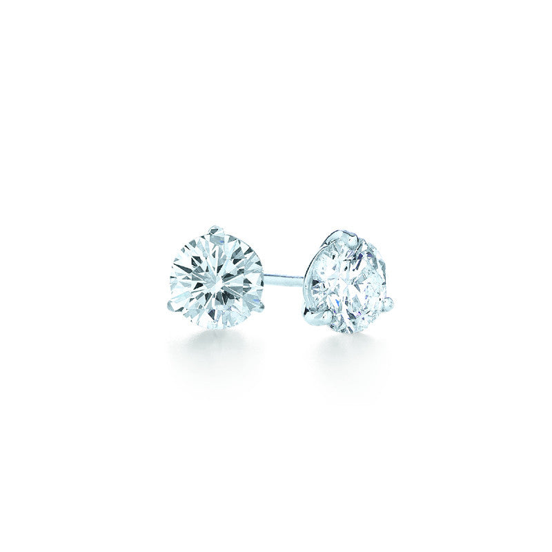 Kwiat Diamond and Platinum Stud Earrings 0.50 carat
