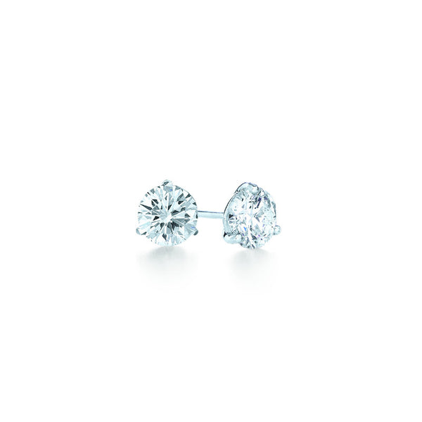 Kwiat Diamond and Platinum Stud Earrings 0.33 carat