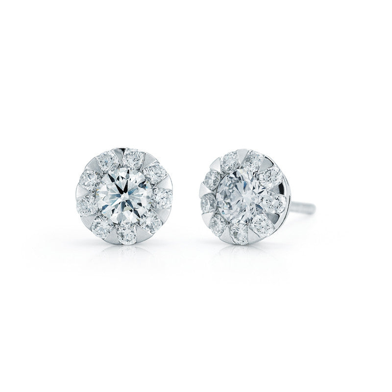 Kwiat Diamond and 18K White Gold Stud