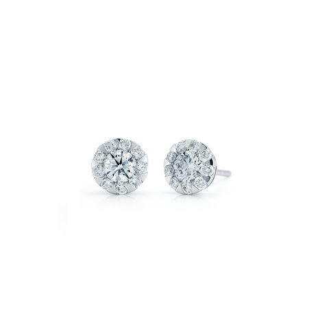Kwiat Diamond and 18K White Gold Sunburst Earrings 0.53 ct total