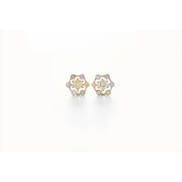 Kwiat Multicolored Diamond and 18K Rose Gold Starry Night Earrings