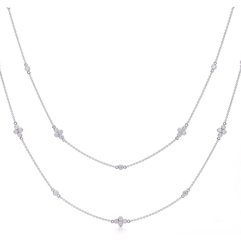 Kwiat Diamond and 18K White Gold Diamonds by the Yard Necklace