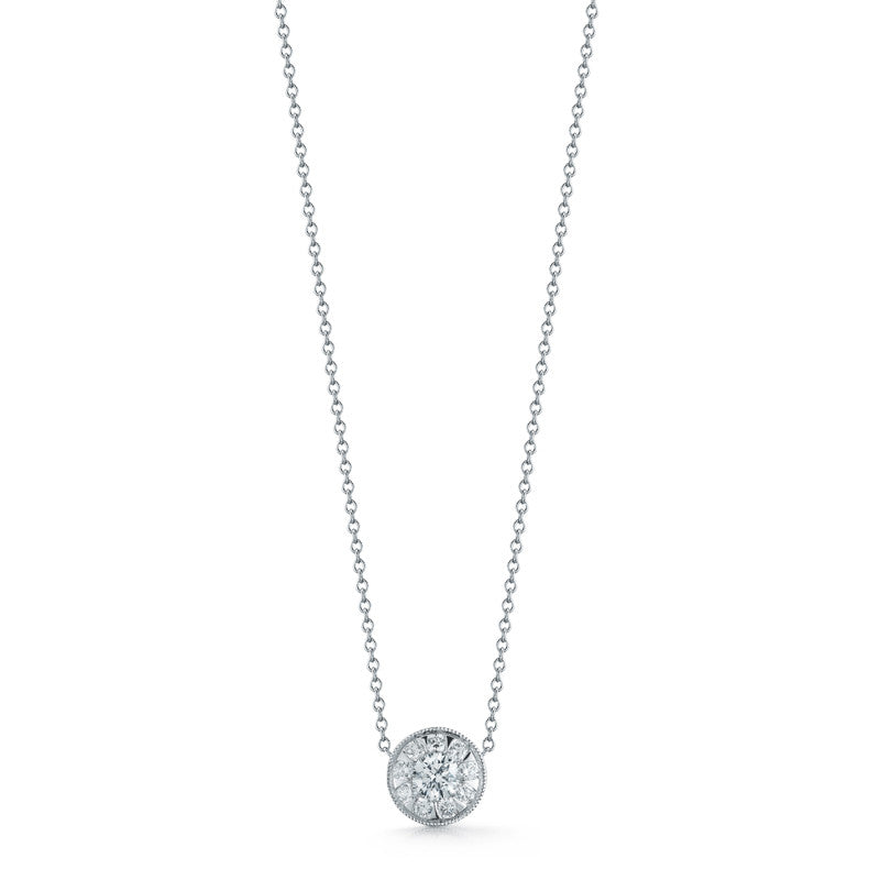 Kwiat diamond and 18k white gold sunburst pendant 033 ct total kwiat diamond and 18k white gold aloadofball Images