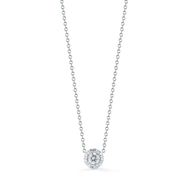 Kwiat Diamond and 18K White Gold Sunburst Pendant 0.26 ct total