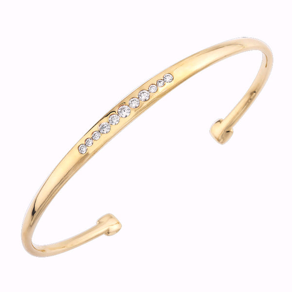 Mark Patterson Diamond and 18K Yellow Gold Tango Bracelet