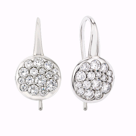 Mark Patterson Diamond and 18K White Gold Tango Earrings