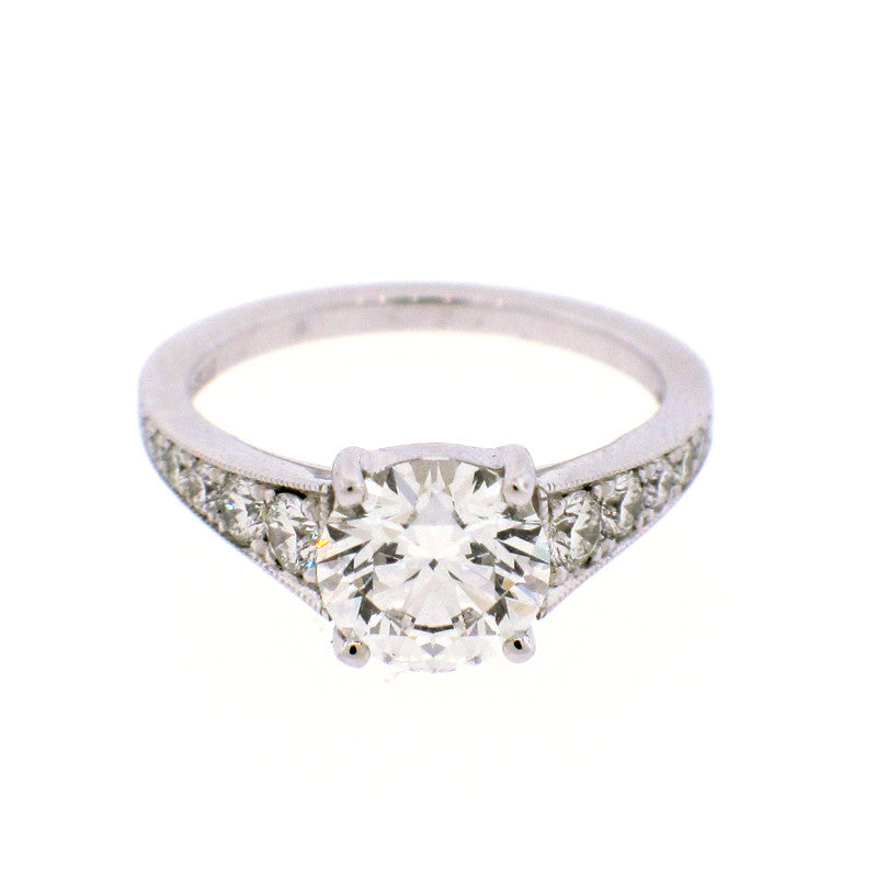 Diamond and Platinum engagement ring mounting by Mark Patterson jewelry designer