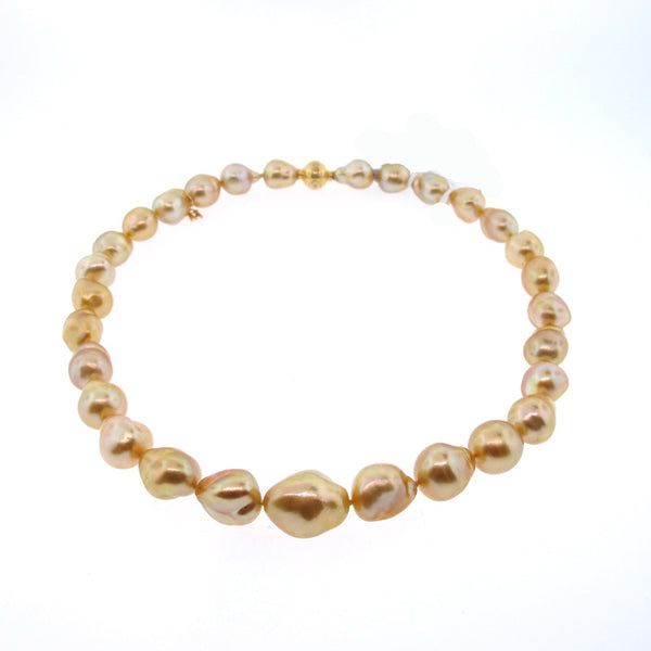 Mikimoto Golden South Sea Cultured Baroque Pearl Strand - 18K Yellow Gold