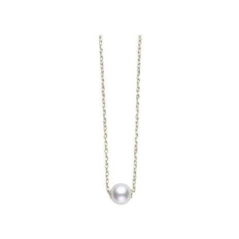 Mikimoto Pearl in Motion Akoya Cultured Pearl and 18K White Gold Pendant