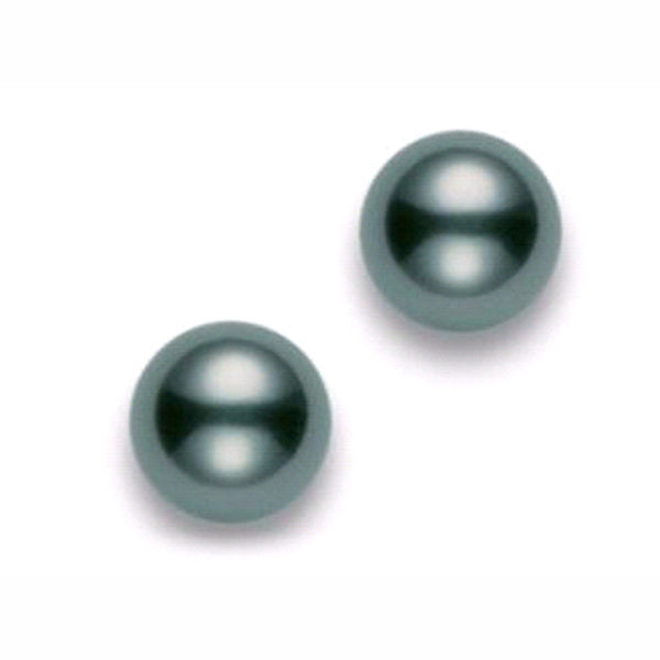 black pearl stud earrings, Mikimoto Black South Sea Cultured Pearl Stud Earrings