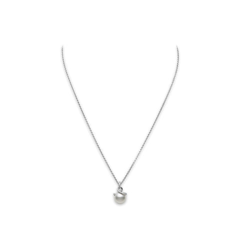 Mikimoto Twist White South Sea Cultured Pearl Pendant - 18K White Gold