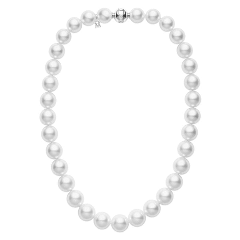 Mikimoto White South Sea Pearl Necklace - 18K White Gold