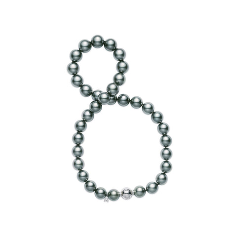Mikimoto Black South Sea Cultured Pearl Strand - 18 Karat White Gold
