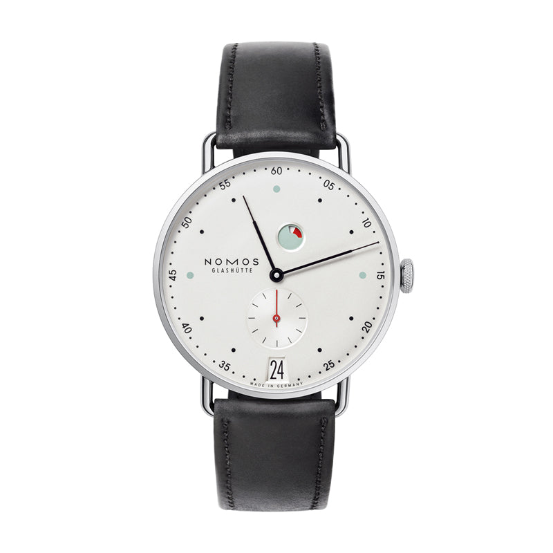 Nomos Metro Datum Gangreserve Stainless Steel watch Ref. 1101