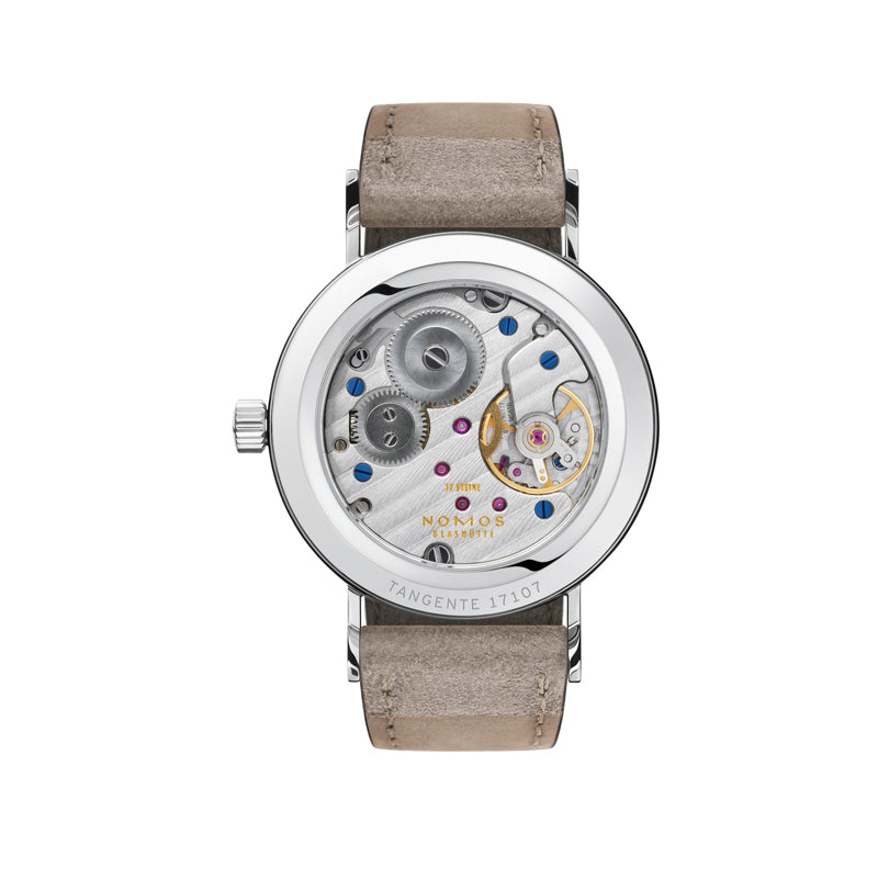 back of Nomos Tangente 33 Duo Stainless Steel Watch Ref. 127