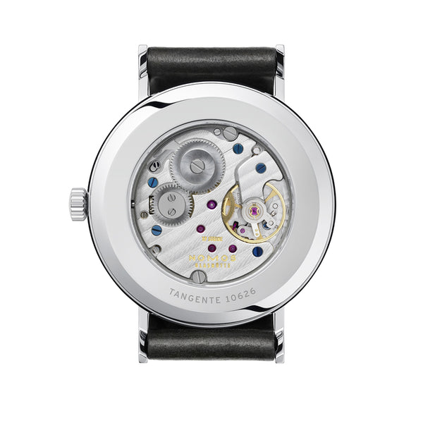 Nomos Tangente 38 Stainless Steel (back of watch) Ref. 164