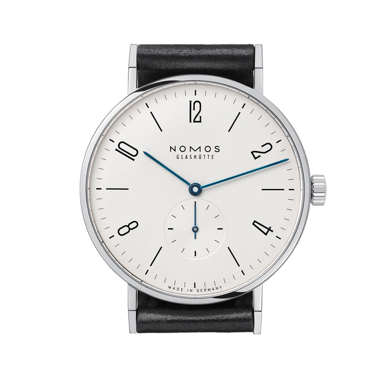 Nomos Tangente 38 Stainless Steel Watch Ref. 164 with blue watch hands