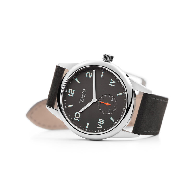 Nomos Club Campus 38 Night Stainless Steel watch Ref. 738 with black strap