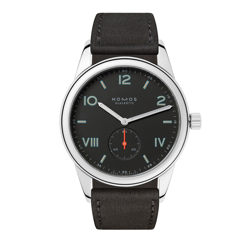 Nomos Club Campus 38 Night Stainless Steel watch Ref. 738 with mixed Roman and Arabic numerals