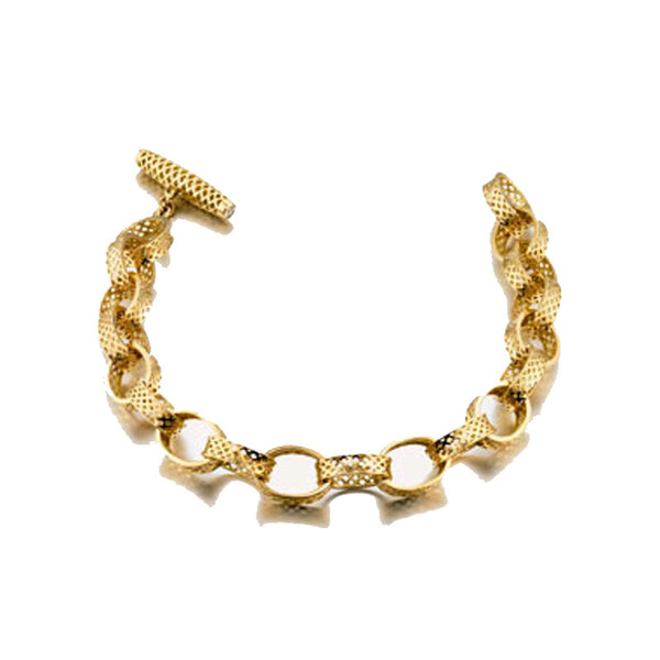 Ray Griffiths 18K Gold Link Bracelet