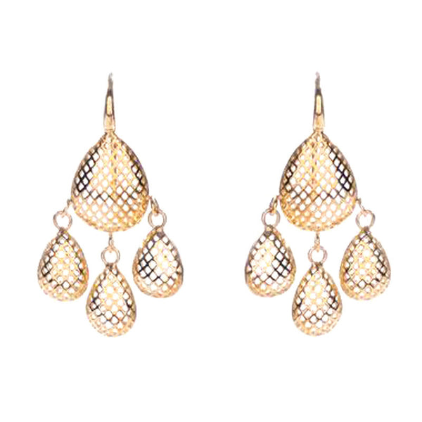 Ray Griffiths 18K Gold Pear Shaped Drop Earrings
