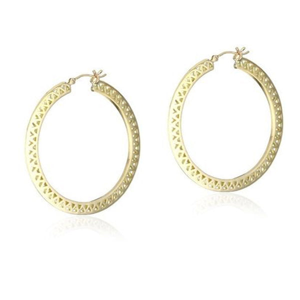 Ray Griffiths and 18K Gold Hoop Earrings