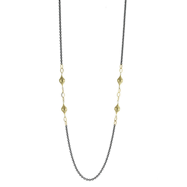 Ray Griffiths 18K Gold and Oxidized Sterling Silver Necklace