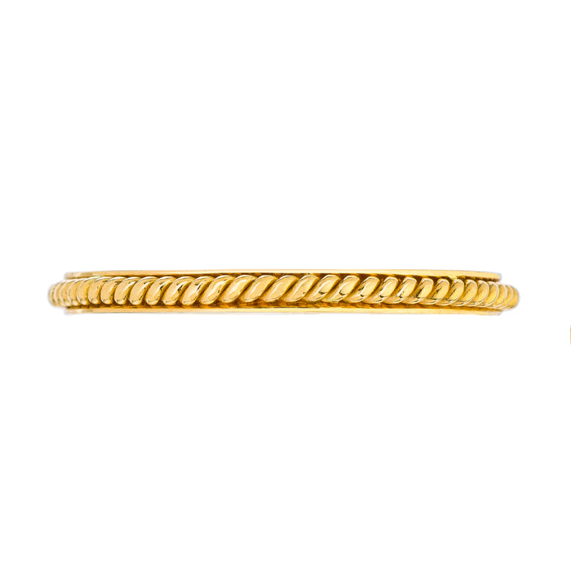 mens engagement ring with twisted rope pattern by Sethi