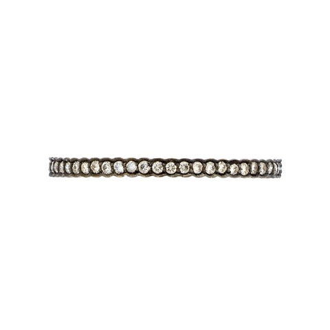 Sethi Couture 18K White Gold Diamond Scallop Band