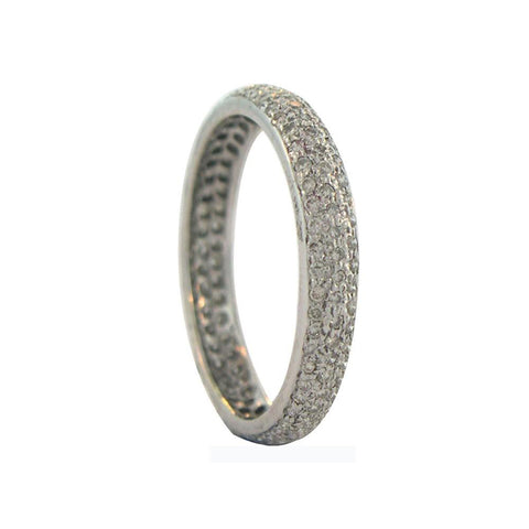Sethi Couture 18K White Gold Pave Diamond Tire Band