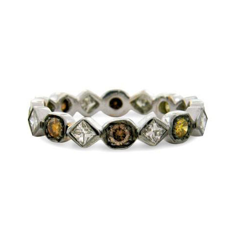 Sethi Couture Art Deco Multi-Color Diamond Eternity Ring
