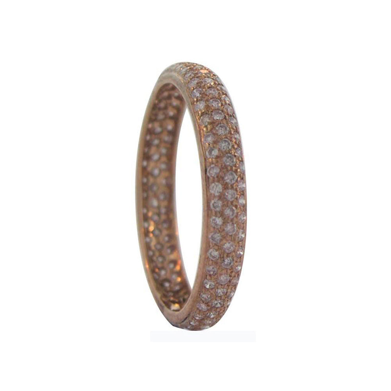 Sethi Couture 18K Rose Gold Pave Pink Diamond Tire Band