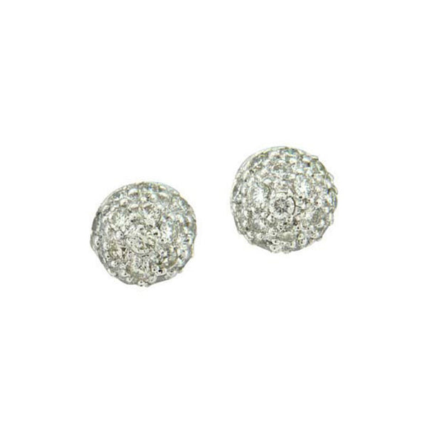 Sethi Couture Pave Diamond Ball Stud Earrings