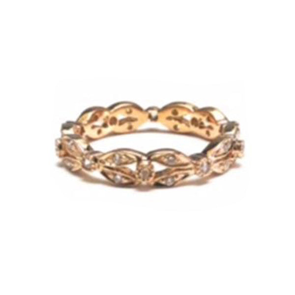Sethi Couture 18K Rose Gold Diamond Wreath Band