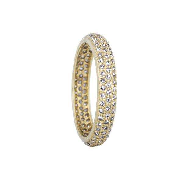 Sethi Couture 18K Yellow Gold Pave Diamond Tire Band