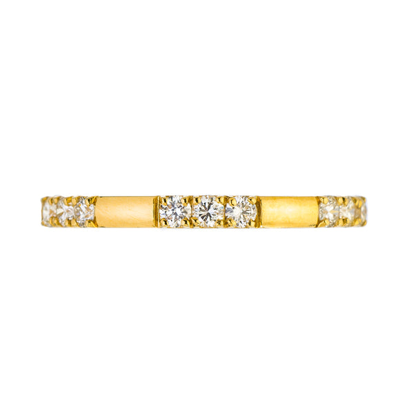 Sethi Couture 18K Yellow Gold Luna Diamond Band