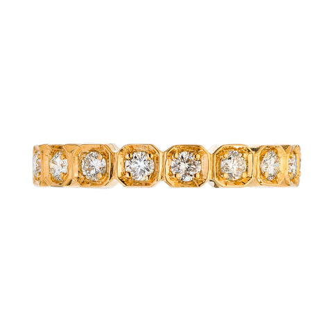 Sethi Couture 18K Rose Gold Diamond Octagon Band